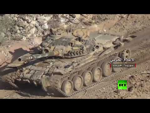 الجيش السوري يواصل عملياته حول حرستا