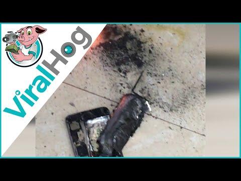انفجار هاتف آي فون في صالون تجميل