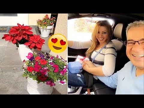 زوجة مصطفى الأغا تفاجئه بعيد الحب 2018