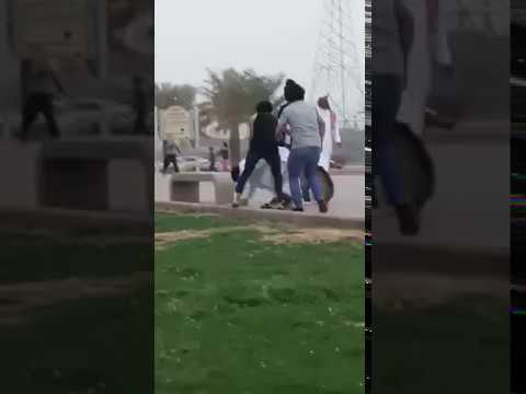 شباب يضربون شخصًا ويروّعون المواطنين بالكلاب