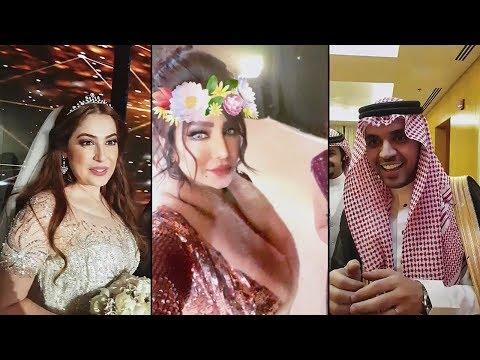 لجين عمران تبارك للعروسين رؤى الصبان وحمود الفايز بزواجهم