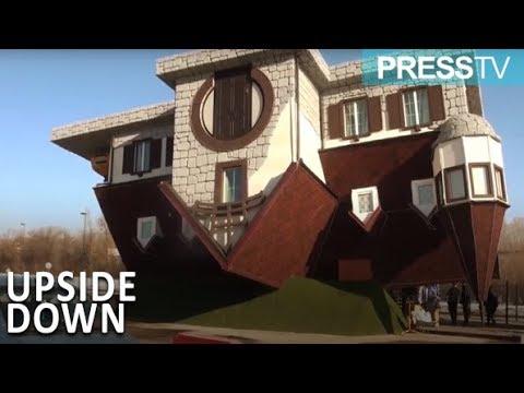المنزل المقلوب في روسيا تحفة فنية مميّزة