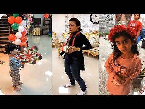 تحضيرات الفنانة أبرار وأولادها لليوم الوطني الكويتي