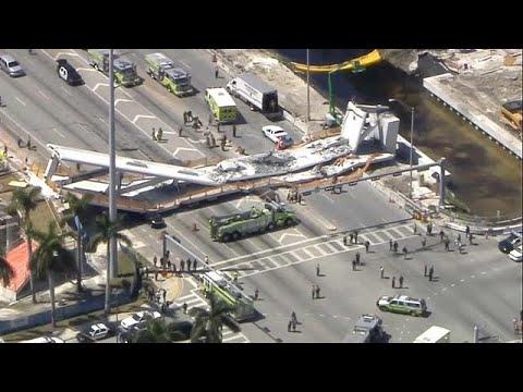 مقتل عدة أشخاص إثر انهيار جسر للمشاة في فلوريدا