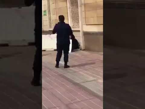شاهد توقيف امرأة هدّدت بتفجير نفسها أمام مبنى البورصة في الكويت