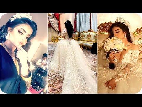 موديل شمس العراقية بفستان الزفاف في جلسة تصوير
