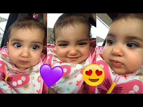لقطات طريفة لمحمد الترك أثناء اللعب مع ابنته غزل