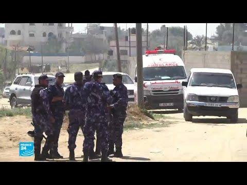 شاهد مقتل أنس أبو خوصة المتهم الرئيسي بتفجير موكب الحمد الله في غزة