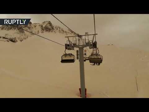 شاهد عاصفة رملية آتية من الصحراء تضرب سوتشي الروسية