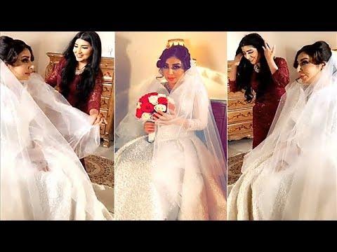 شاهد شيماء علي بفستان الزفاف مع بثينة الرئيسي