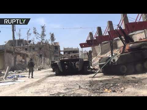 شاهد أشباح الحرب تلقي بظلالها على شوارع مدينة دوما في غوطة دمشق