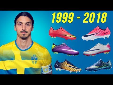 شاهد جميع أنواع الأحذية التي لعب بها إبراهيموفيتش من 1999 إلى 2018