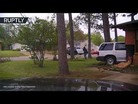 شاهدانفجار هائل داخل منزل في ولاية تكساس الأميركية