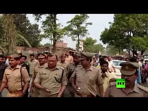 شاهد حادث سير مروع شمال الهند