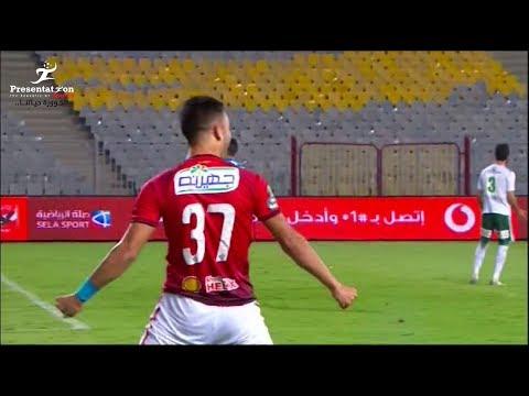 شاهد  صلاح محسن يحرز الهدف الثانى للأهلى أمام المصرى