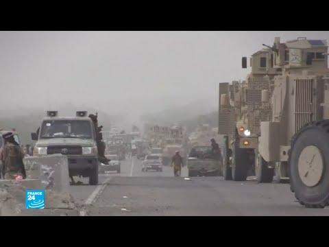 شاهد أرتال عسكرية نحو مدينة الجاح استعدادا لمعركة الحديدة