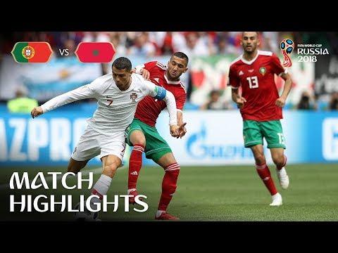 شاهد: كريستيانو رونالدو يُسجّل في فوز البرتغال على المغرب