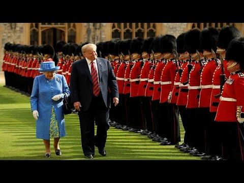 شاهد الملكة إليزابيث تستقبل ترامب في قلعة وندسور
