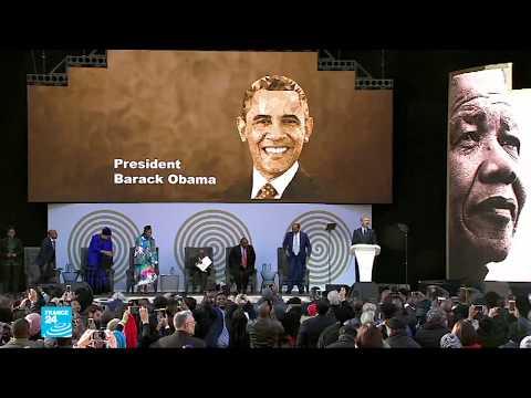 بالفيديو أوباما في جنوب أفريقيا