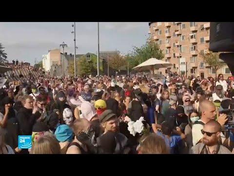 شاهد احتجاجات في الدانمارك على تطبيق قانون حظر النقاب  في الأماكن العامة