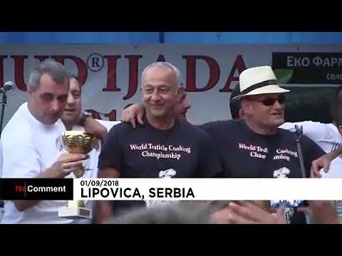 شاهد مسابقة عالمية في صربيا لطبخ خصى الحيوانات