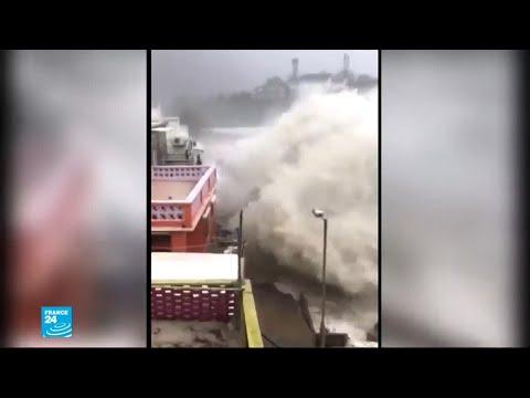 شاهد  مشاهد مرعبة من الإعصار القوي الذي اجتاح الفلبين