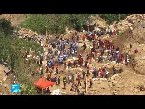 البحث عن ضحايا انهيار أرضي جراء الإعصار مانغخوت في الفيليبين