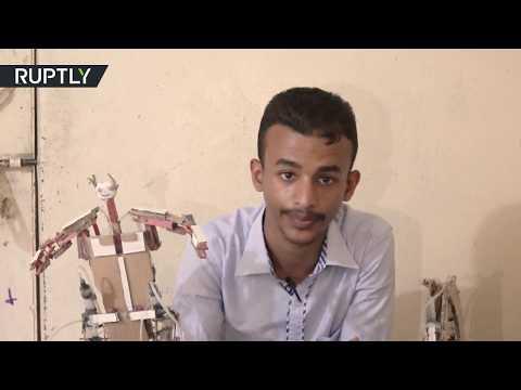 شاهد ابتكارات رائعة لمراهق يمني على الرغم من استمرار الحرب