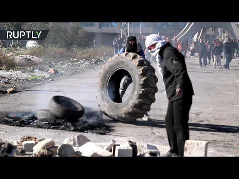 شاهد  مقتل فتى فلسطيني وإصابة العشرات