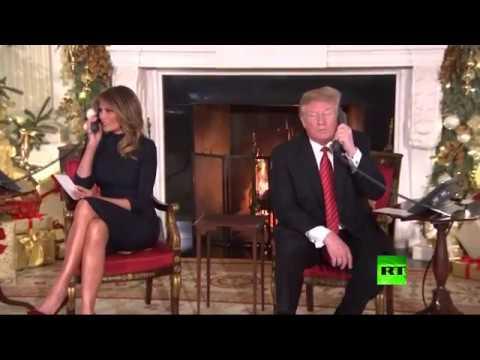 شاهد ترامب يتلقى اتصالات الأطفال بمناسبة عيد الميلاد