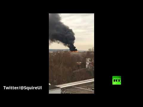 شاهد انفجار أسطوانات غاز في جامعة ليون الفرنسية