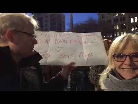 شاهد احتجاجات مُناهضة لسياسات الرئيس ترامب في نيويورك