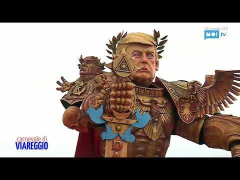 شاهد كرنفال فياريجي يشهد تمثالًا ضخمًا للرئيس الأميركي