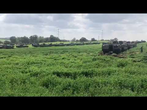 شاهد الجيش الإسرائيلي يُعزّز تواجده العسكري على حدود غزة