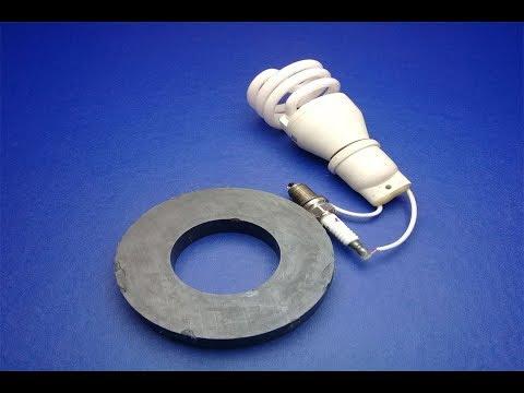 مولد الطاقة مجاني يضيئ لمبة 220 فولت