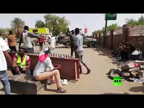 شاهداعتصام السودانيين  داخل مقر المجلس العسكري الانتقالي