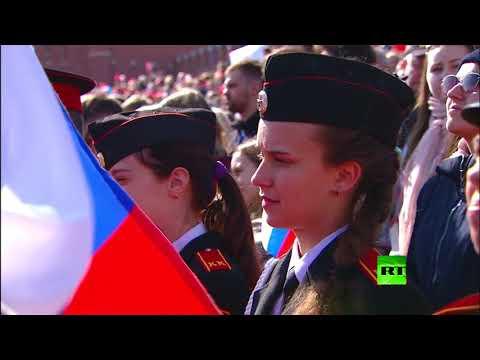 شاهد مظاهر احتفالات موسكو بعيد العمال العالمي