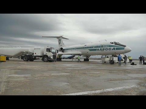 شاهد توبوليف 134 الأسطورية تقوم بآخر رحلة جوية لها