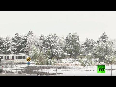 عاصفة ثلجية تضرب ولاية كولورادو الأميركية