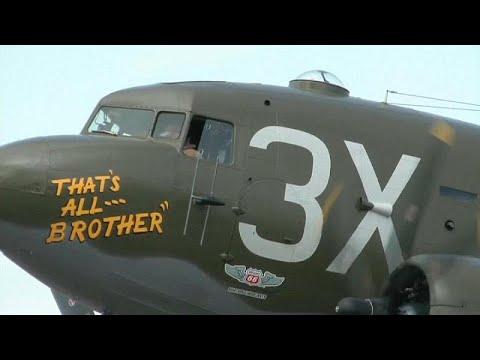 عودة أول طائرة إنزال للجنود الأميركيين في الحرب العالمية الثانية إلى أوروبا