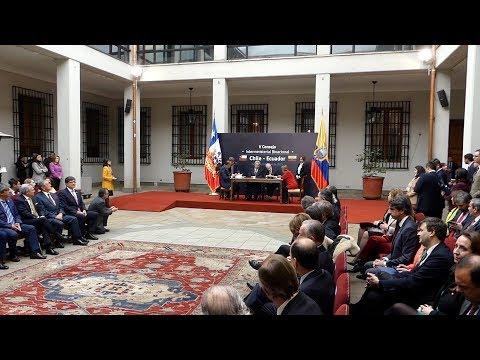 الشيلي والإكوادور توقعان في سانتياغو 21 اتفاقًا للتعاون الثنائي