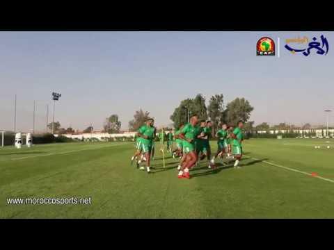 شاهد المنتخب المغربي مكتمل الصفوف قبل مواجهة ناميبيا