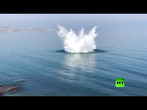 تفجير 4 قنابل في البحر الأسود قبالة القرم
