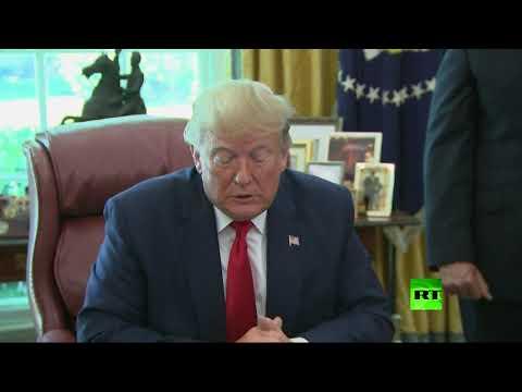 شاهد ترامب يفرض العقوبات على الإمام الخميني بالخطأ