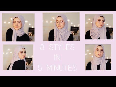 تعرفي على لفات حجاب آخر موضة يمكن تطبيقها في 5 دقائق فقط