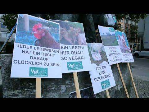 شاهد مسيرة في زيورخ السويسرية تدعم حقوق الحيوان وتطالب بوضع حد للمعاملات غير الإنسانية بحقها