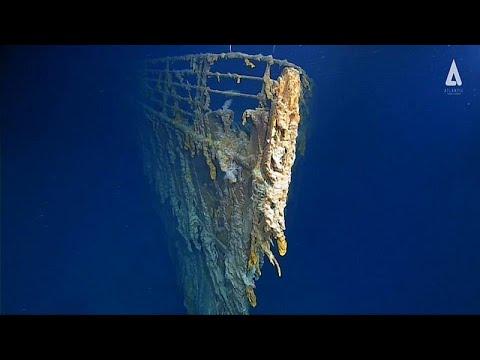 فيديو مخيف لبقايا سفينة تيتانيك الغارقة في قعر الأطلسي
