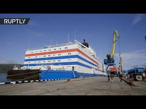 شاهد أول محطة نووية عائمة تبحر إلى أقصى شمال روسيا