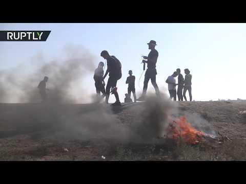 مقتل العشرات في تظاهرا مخيم العودة شرق خان يونس