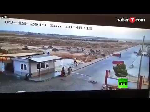 لحظة انفجار مفخخة في بلدة الراعي شمال سورية